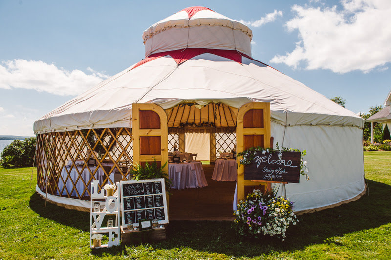 Creating unique spaces with yurts & stretch tents!
