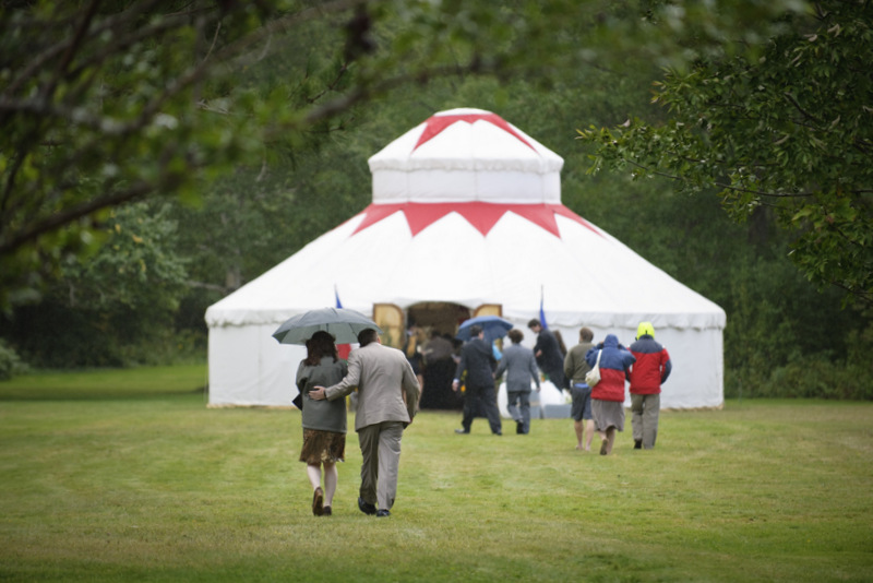 Keep your guests dry in a yurt!